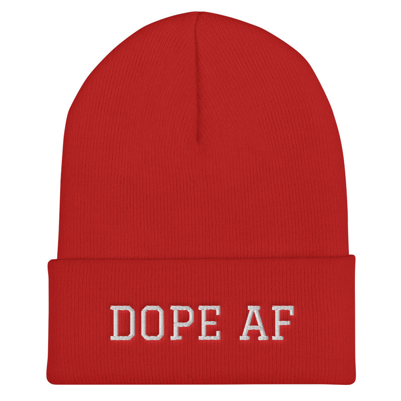 DOPE AF - Cuffed Beanie - Darkest Hour Apparel