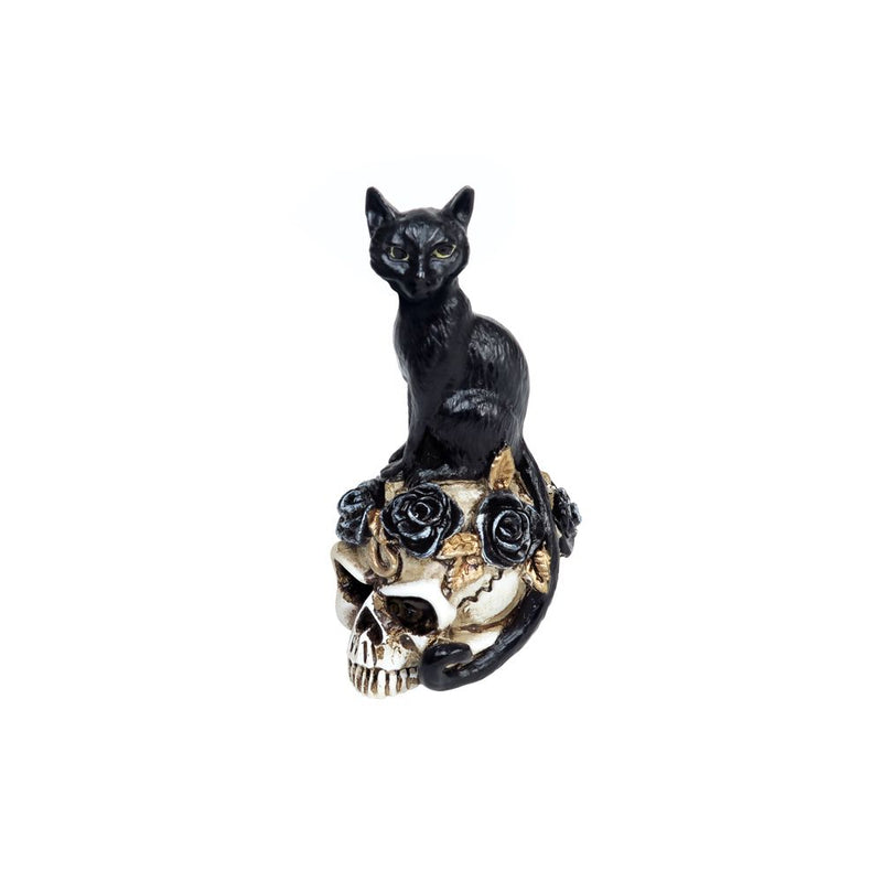 Black Cat Skull Miniature - Darkest Hour Apparel