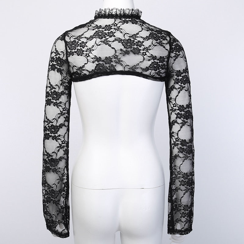 Lace Goth High Neck - Darkest Hour Apparel