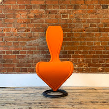 Load image into Gallery viewer, Orange Felt 'S' Chair by Tom Dixon