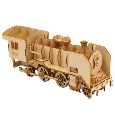 puzzle 3d bois locomotive