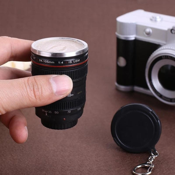 50Ml Camera Lens Cup Travel Mugs Stainless Steel Emulation Camera Thermos Cup Bottle Whisky Wine Cups For Outdoor Camping Picnic