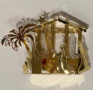 Gilded Detailed Acid Etched Christmas Tree Ornaments