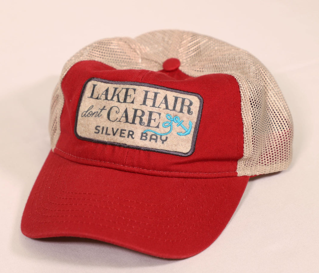 Silver Bay Lake Hair Don't Care Trucker Hat