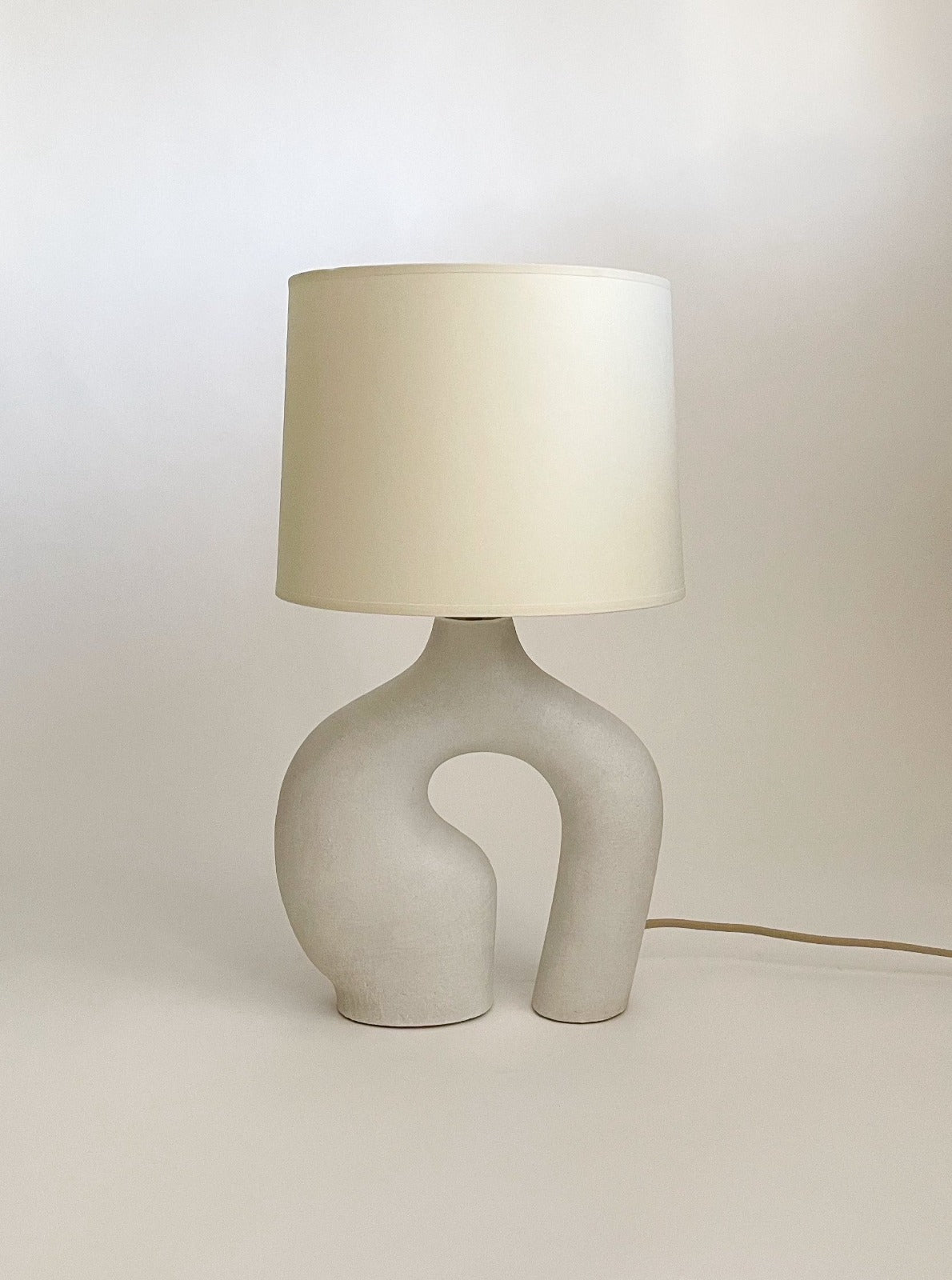 Kassandra thatcher circle loop ceramic lamp