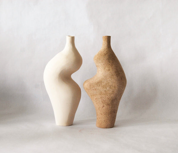 Speckled Beige Small Vase