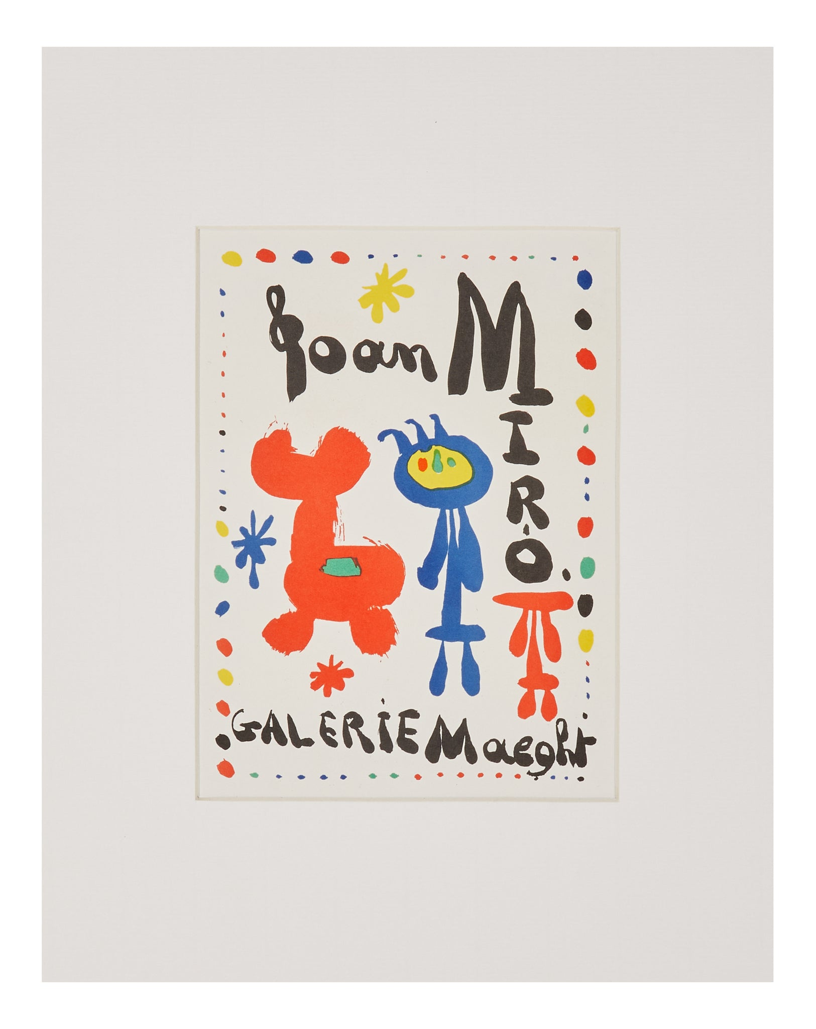 Joan Miró 'Galerie Maeght' Lithograph
