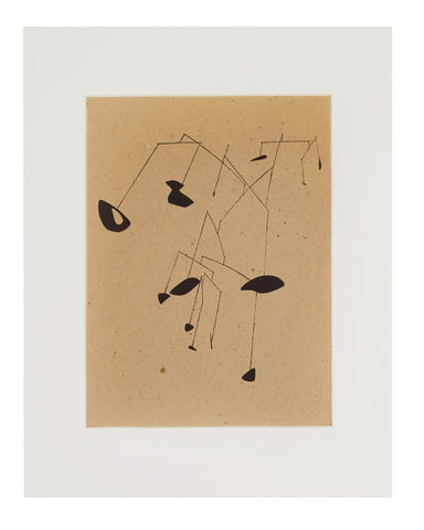 Alexander Calder 'Sketch for Mobile' Woodblock Print