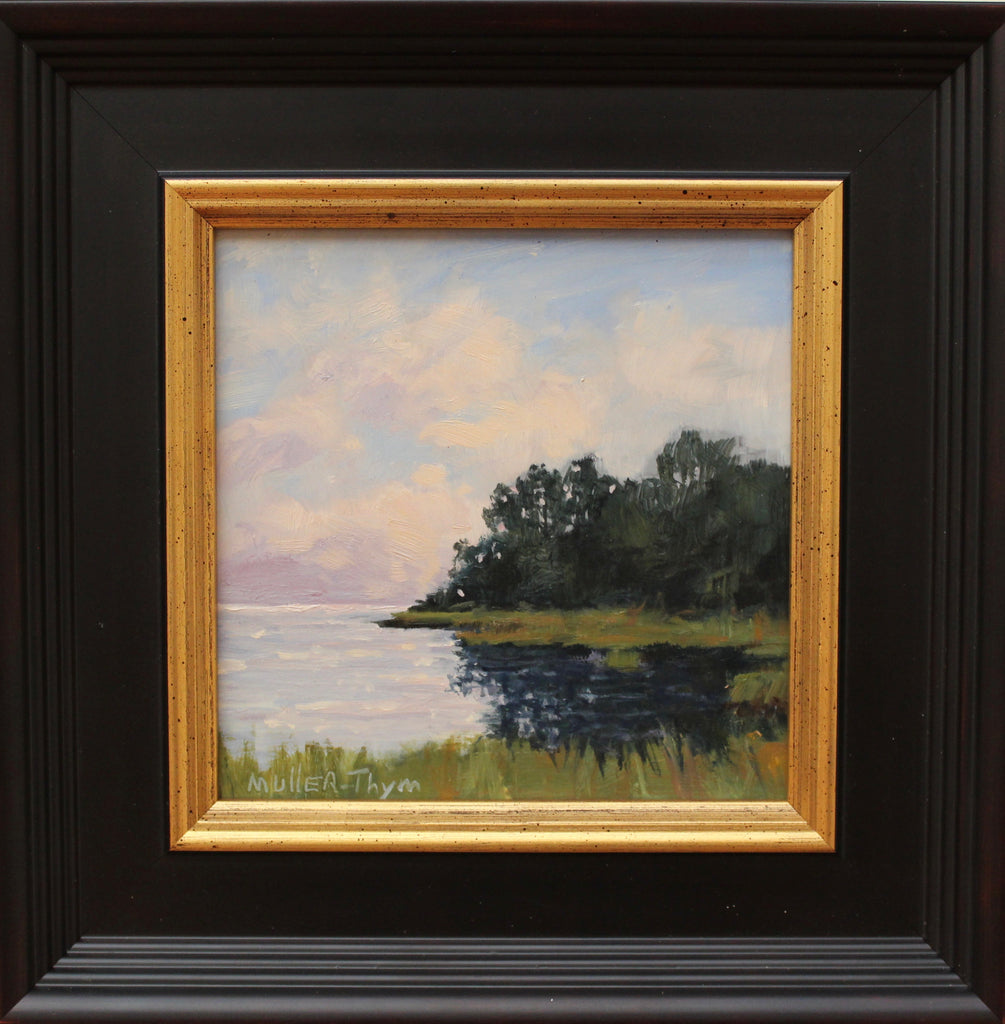 "Kim Muller-Thym, ""Edge of the Bay"", oil, 10x10"