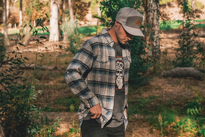 MotoCrew Flannel (Grey/Blue)
