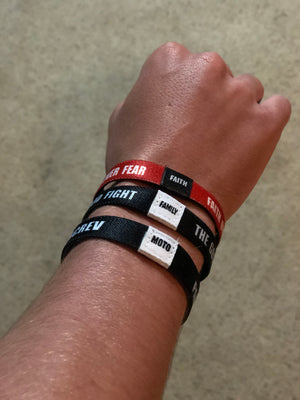 Faith, Family, Moto - Elastic Wristband