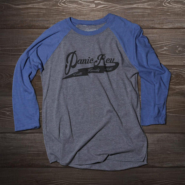 Baseball 3/4 Sleeve Blue