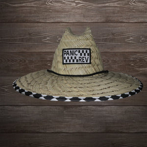 Checkered Straw Lifegaurd Hat