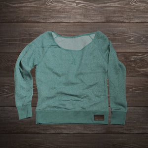 Women's Faith, Family, Moto Off The Shoulder (Teal)