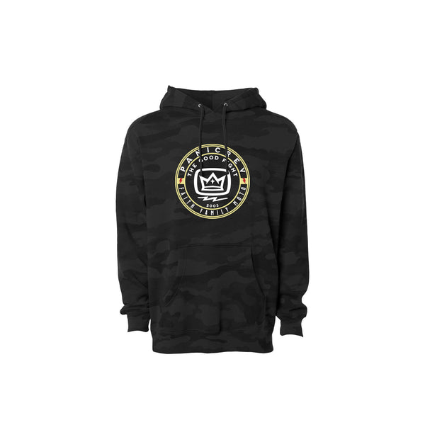 The Good Fight Circle Hoodie (Black Camo)