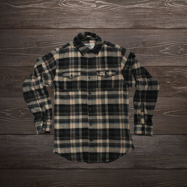 MotoCrew Flannel (Cream/Black)