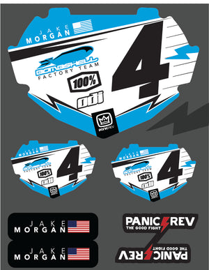 Bolt BMX Number Plate Insert Sticker Sheet