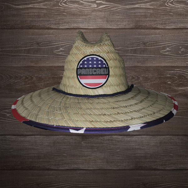 Paradise Stars & Stripes Straw Lifegaurd Hat