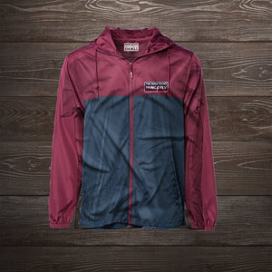 Everyday Windbreaker (Navy/Maroon)