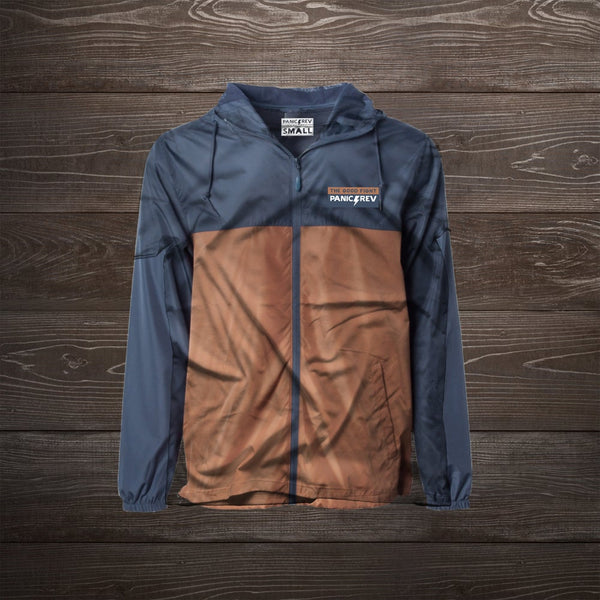 Everyday Windbreaker (Navy/Burnt Orange)