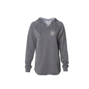 The Good Fight Circle Hoodie (Ladies Grey)