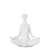 Yoga White Ceramic Decor Figure - Hands On Knees - www.instylehome.ca