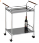 Henry 2 Tier Chrome Bar Cart