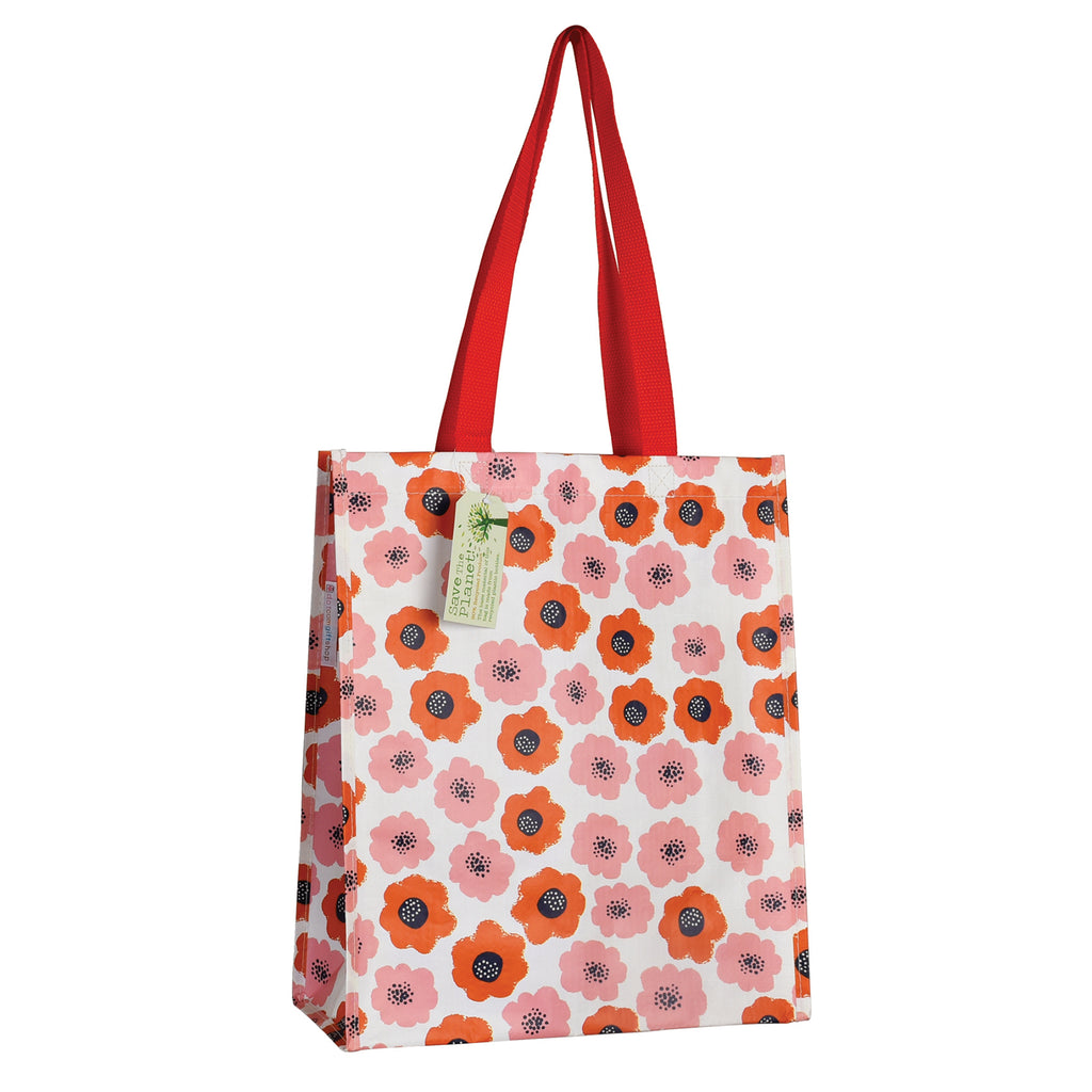 Pink Poppy Recycled Shopping Bag