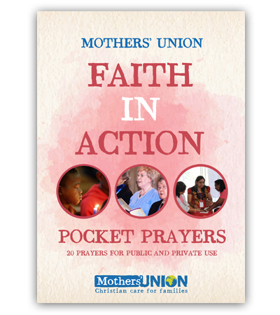 Faith In Action Pocket Prayer Booklet Mothers' Union charity gift book