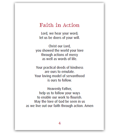 Faith In Action Pocket Prayer Booklet