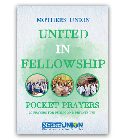 United In Fellowship Pocket Prayer Booklet Mothers' Union charity gift book
