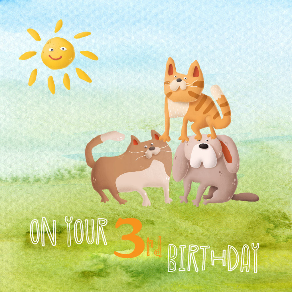 Front of 3rd Birthday card