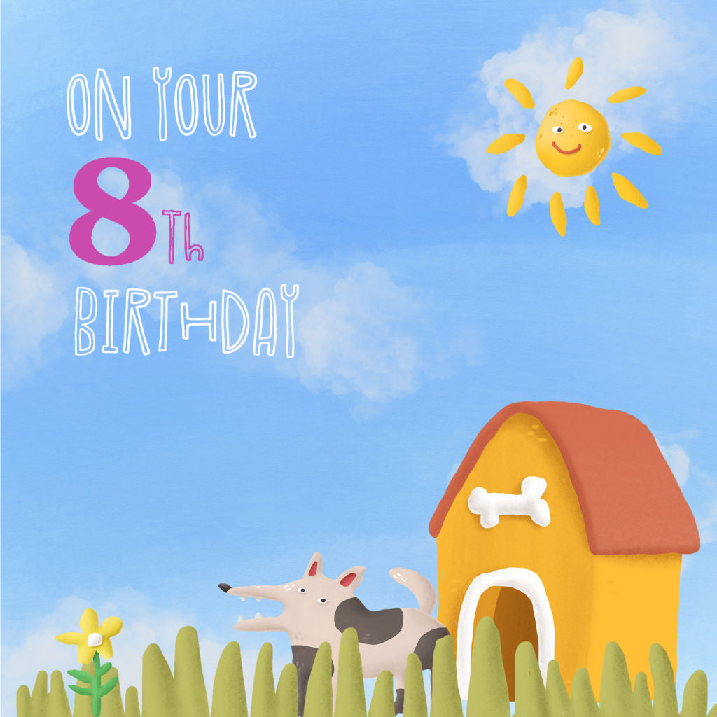 Front of 8th birthday card
