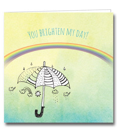 Brighten My Day Single Card Mothers' Union charity get well umbrella