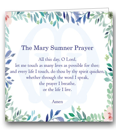 Mary Sumner Prayer Single Mothers' Union card charity