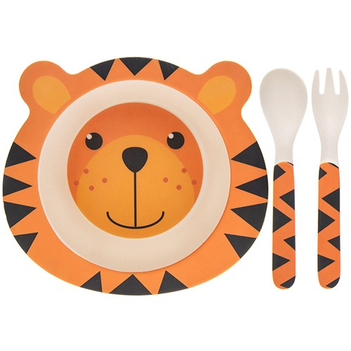 Childs Bamboo Eco Tiger Bowl And Spoon Set