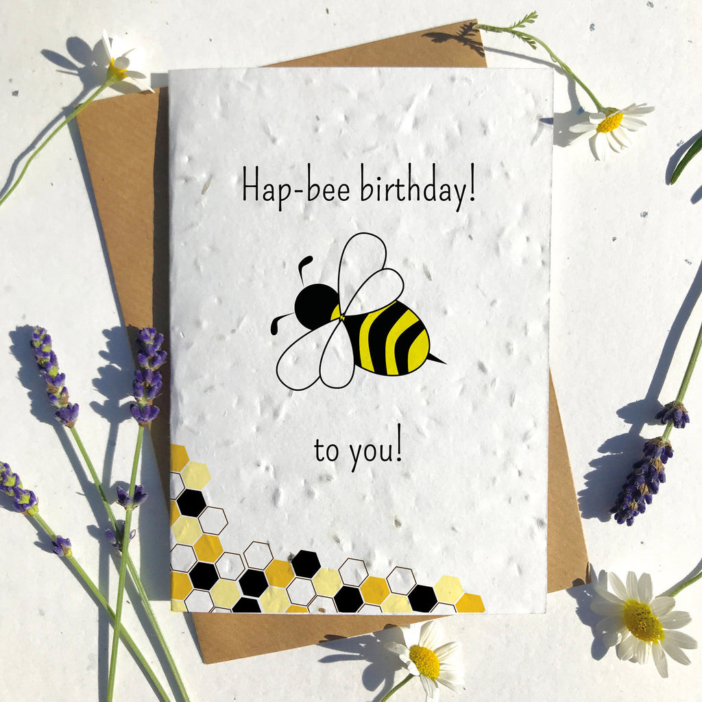 Hap-Bee Birthday Seeded Card