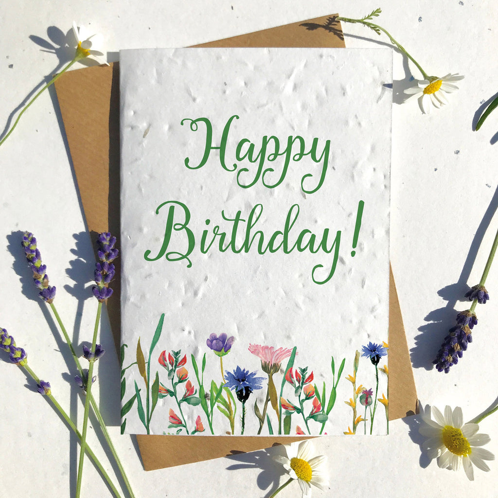 Happy Birthday Wildflowers Seeded Card