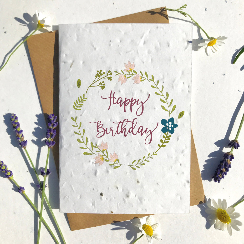 Modern Birthday Seeded Card