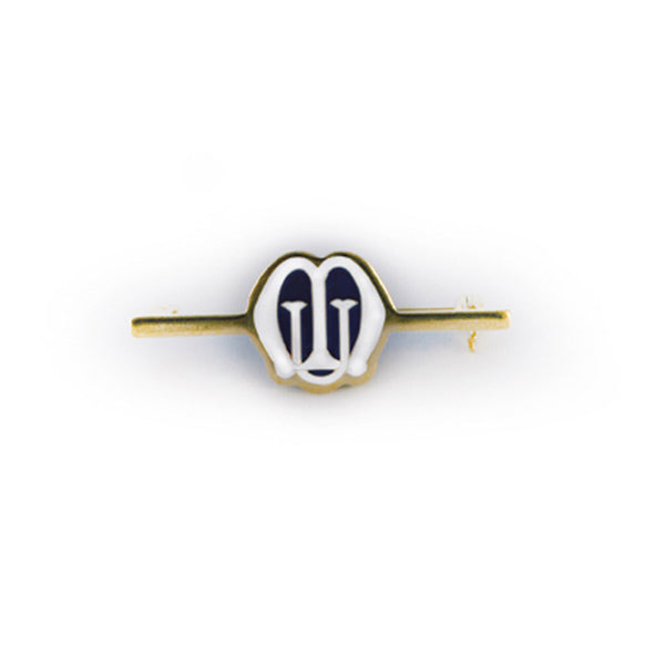 Gilt and Enamel Bar Brooch JN0004