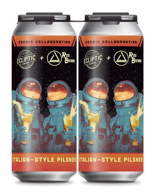 Ecliptic + Ruse Collab Italian Style Pilsner 4 pack - @ Your Door