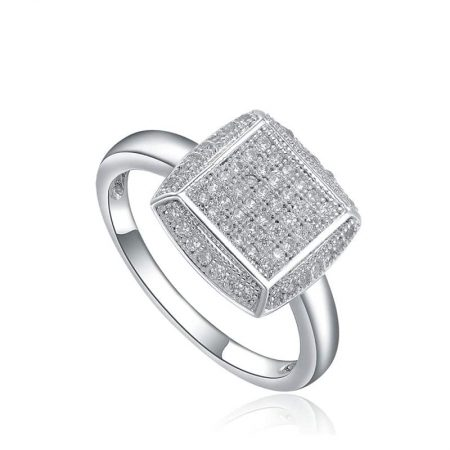 Sky Silver Pave Ring