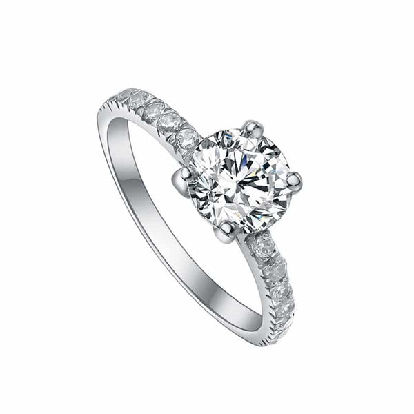Zilveren Solitaire Ring 8mm