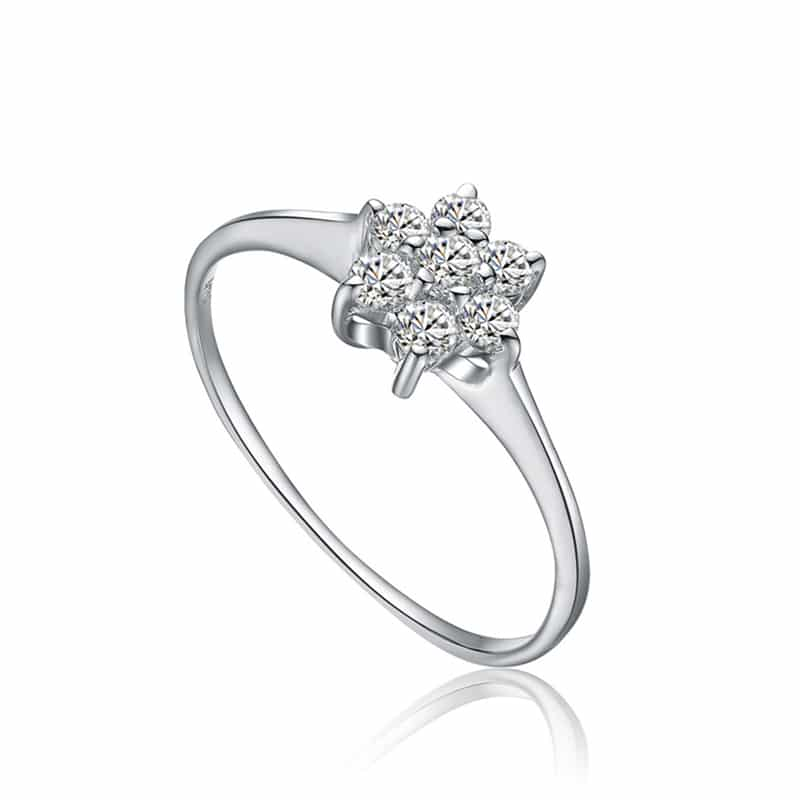 Sky Silver Cluster Ring
