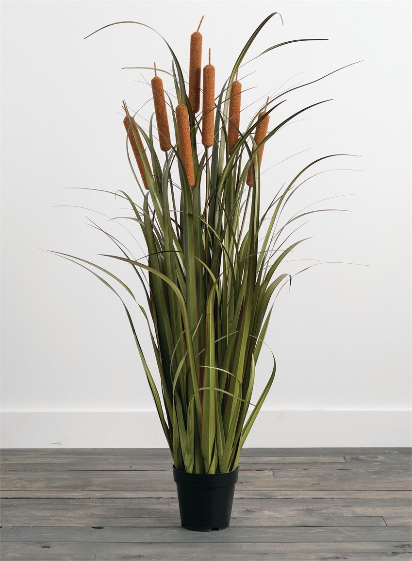 ARTIFICIAL POTTED CATTAILS