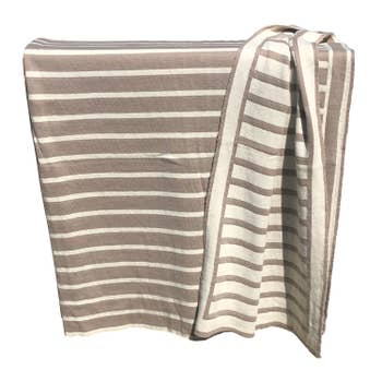 STRIPED KNITTED THROW STONE