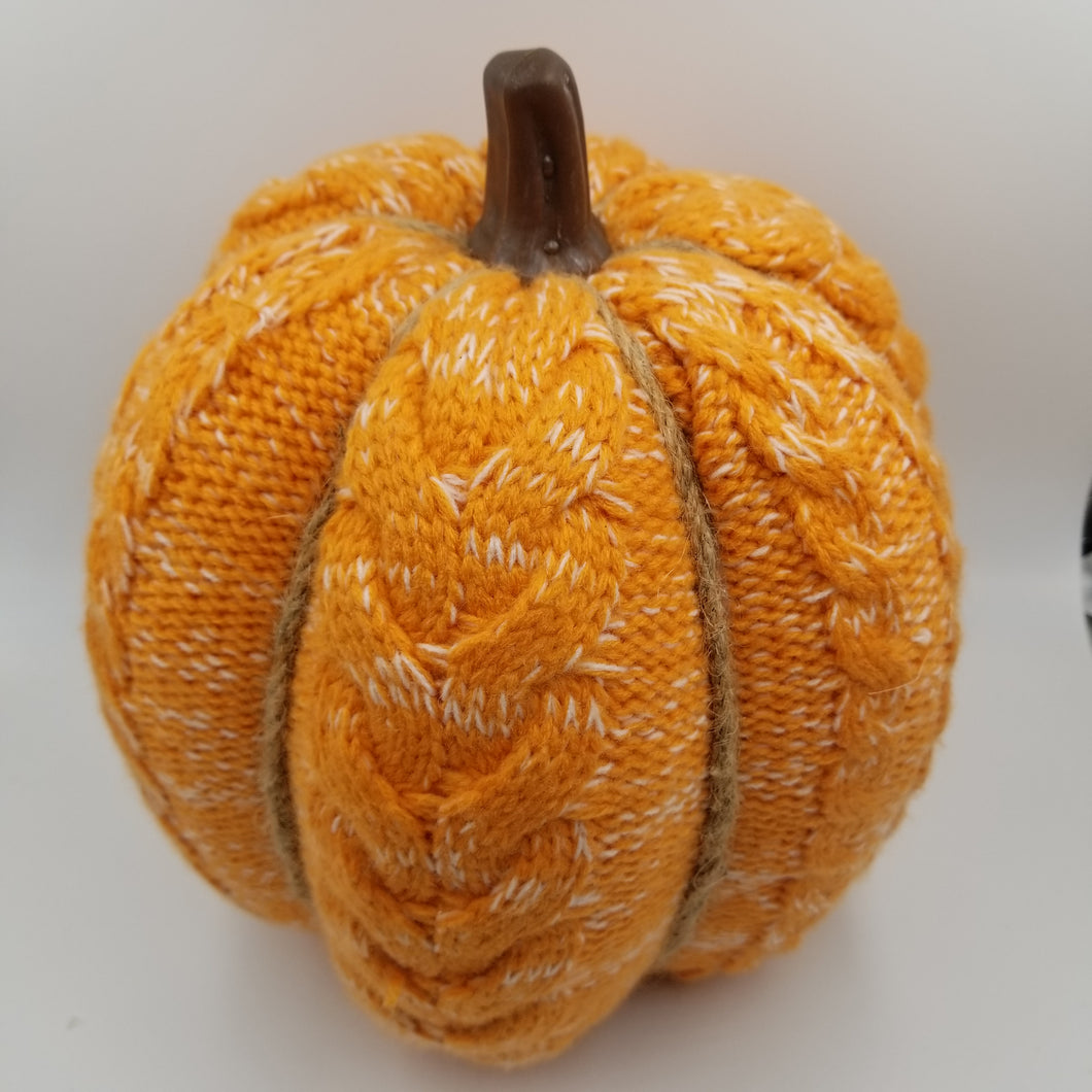 CABLE KNITTED PUMPKIN - ORANGE