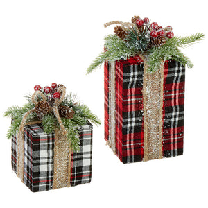 PLAID PACKAGES - SET OF 2