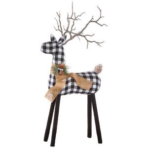 "28"" CHECKED REINDEER"