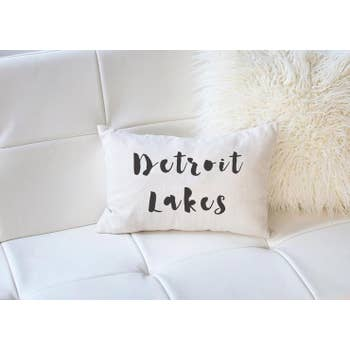 LUMBAR PERSONALIZED LAKE NAME PILLOW